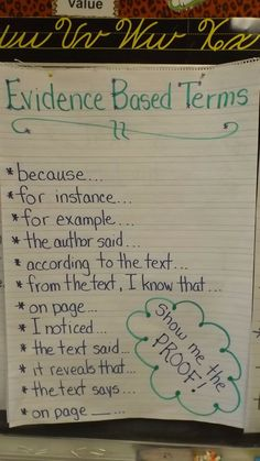 Evidence Based Terms To use Smith's Safari. Adventures in Third Grade! 3rd Grade Writing, Third Grade Reading, Ela Anchor Charts, Reading Anchor Charts, Reading Strategies, Reading Skills, Comprehension Strategies, Reading Response, Teaching Writing