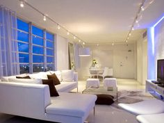 Lighting Tips for Every Room | Red sectional sofa