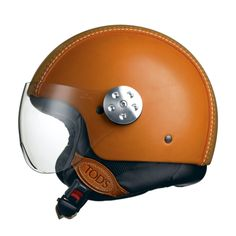 Tods for the head! Use this style if going for a Black tank bike - get Tod's Leather Helmet Scooters, Motorcycle Helmets, Bicycle Helmet, Women Motorcycle, Motorcycle Quotes, Motorcycle Accessories, Leather Accessories, Inazuma Cafe Racer, Vintage Helmet
