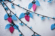 """Crochet necklace - turkish lace - needle lace - oya necklace - 131.10"""" - FAST worldwide shipment with UPS - halime-006"""