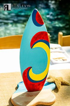 Surfboard Surf beach themed Party Table by SurfboardBeachArt, $49.95