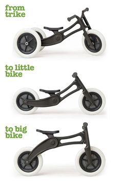 The Wishbone Bike Recycled Edition (RE) is made from 100% Recycled Carpet