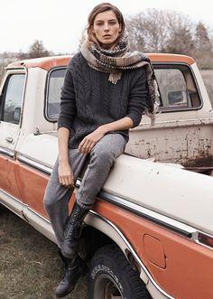 Daria Werbowy for Mango Fall 2014 by Josh Olins