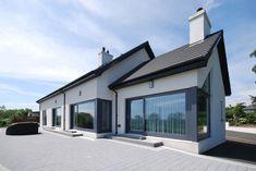 Modern Bungalow House Plans, Modern Bungalow Exterior, Dormer Bungalow, Dormer House, Small Bungalow, Modern Houses, House Extension Ireland, House Cladding, Cedar Cladding