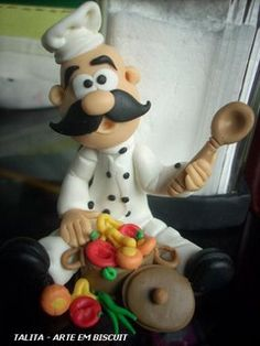 whimsy chef in clay (photo)