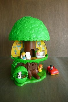 I had this and I loved it!  Treehouse Including Family, Dog, Kennel, Car, Swing & Furniture (Kenner 1975)