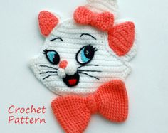 Crochet Pattern. Applique. Patch 101 door InspiredCrochetToys