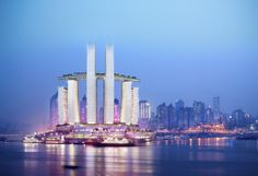 [ Moshe Safdie Chongqing Chaotianmen ] - Best Free Home Design Idea & Inspiration Future Buildings, Unique Buildings, Chinese Boat, Chinese Style, Chongqing China, Building Structure, Digital Trends, Home Design, Interior Design