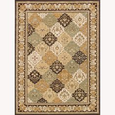 $472 free shipping on Overstock     Primeval Multi/ Coffee Oriental Rug (9'2 x 12'7)
