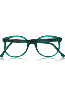 Cutler and Gross - Round-frame acetate optical glasses Green Glasses Frames, Cool Glasses, New Glasses, Zapatillas New Balance, Piercings, Cutler And Gross, Four Eyes, Optical Glasses, Round Frame