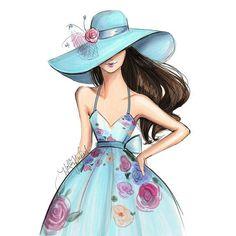 Derby Days  #availableonEtsy #kentuckyderby #derby #fashionsketch #fashionillustrator... | Use Instagram online! Websta is the Best Instagram Web Viewer!