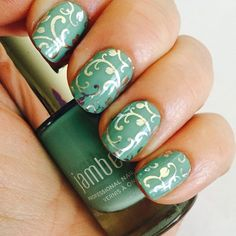 Jamberry Nail wraps are wonderful, but did you know you can layer them over polish/lacquer??? Silver floral over Hint of Mint lacquer <3