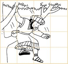 Puzzles - Puzzle d'une illustration de Zachée Estás en el lugar correcto para diy Aquí presentamos diy qu - Puzzles, Ste Croix, High School Games, Zacchaeus, Sunday School Coloring Pages, Activities For Kids, Crafts For Kids, Dinosaur Crafts, Preschool Age