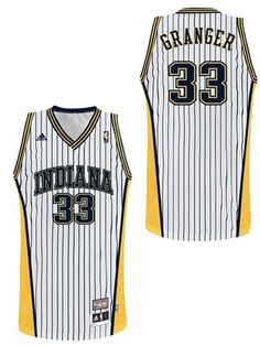 9d524eabf Indiana Pacers #33 Danny Granger Hardwood Classics retro white swingman  jersey from adidas is a