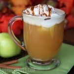 apple cider floats-  yep, in AZ, cold drinks are still better than hot cider drinks for October.