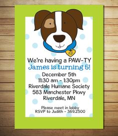 Dog Party Invitations
