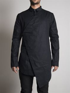 BLACK CELEBRATION - Asymmetric Vested Shirt