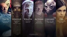 A great picture of the various races in Stargate. Wouldn't mind a new series right about now. I say to throw in a new Babylon 5 as well. And while I'm greedy, could use some Star Trek as well. Stargate Atlantis, Stargate Movie, Stargate Ships, Stargate Universe, Marvel Universe, Battlestar Galactica 1978, Daniel Jackson, Starship Troopers, Best Sci Fi