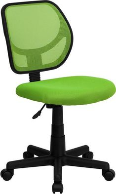 Mid-Back Green Mesh Task Chair and Computer Chair WA-3074-GN-GG by Flash Furniture