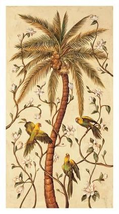 Giclee Print: Tropical Panel I by Rodolfo Jimenez : Tropical Design, Tropical Decor, Painting Edges, Stretched Canvas Prints, Original Image, Decoration, Find Art, Framed Artwork, Giclee Print