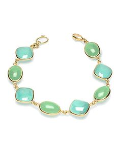 Turquoise and Chrysoprase Bracelet by Elizabeth Showers at Last Call by Neiman Marcus.