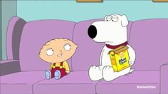 """A Wheat Thins commercial featuring Stewie and Brian from Family Guy. It is playing off a joke from an episode of Fam Guy where Stewie pronounced the word """"Cool Whip"""" with an emphasized """"h"""" sound. It is nice that a television show's joke can be turned into an actual commercial."""