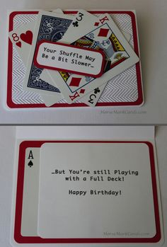 Birthday card for card players, gals, guys, or anyone!