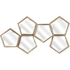 Off Arlene Bronze Mirror Wall Decor by IMAX. @ Get your pentagon on with this glam mirrored wall décor. Mirror Ceiling, Wall Mirrors Entryway, Small Wall Mirrors, Black Wall Mirror, Rustic Wall Mirrors, Mirror Wall Art, Round Wall Mirror, Mirror Bedroom, Framed Wall