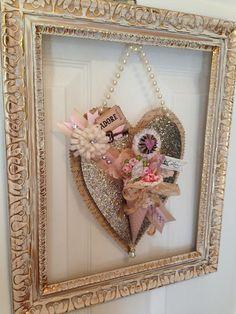 Vintage Valentine,Heart, Valentine, Glitter, Paper Cone, Soiree', Paper Crown  OKC, Key,, Adore, Paper Art, Holiday Workshop, Valentine Soiree'