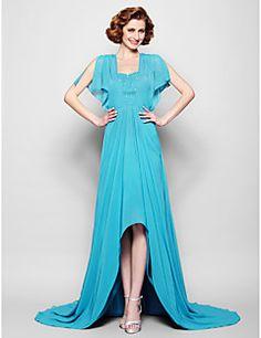 Mother of the Bride Dress Asymmetrical Chiffon A-line Dress