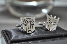 geeky Transformer cufflinks