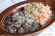 Meatless Monday Mexican Rice andBeans - Circle B Kitchen - Circle B Kitchen