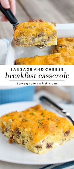 overnight sausage and egg casserole