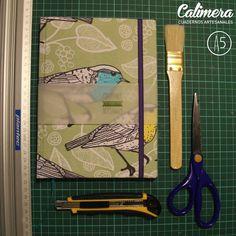 Cuaderno cosido a mano, con 80 hojas bookcel, elastico y cinta señaladora. Tamaño a5 #Birds