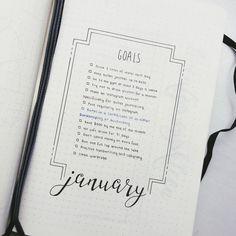Bullet journal monthly goals, goal tracker, goal setting. | @bitchin.bujo #bulletjournal #layout #ideas #inspiration #personalplanner