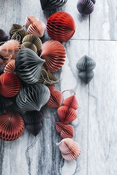 Honeycomb Paper Ornaments