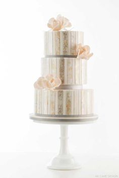 Metallic Watercolor Cake by http://akcakedesign.com