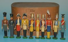 antique erzgebirge wooden German toys.