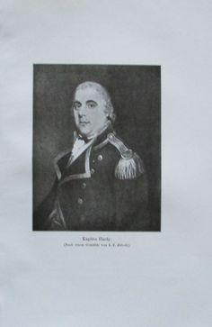 KAPITÄN HARDY 1914 Porträt Abbott alter Druck antique Print Lithographie