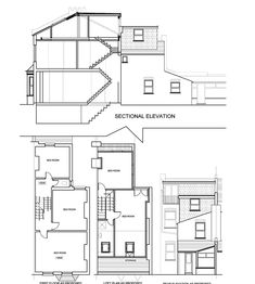 Typical section through a loft conversion with dormer for Mansard roof section