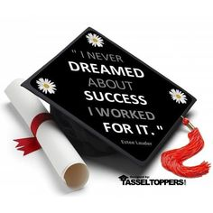 Dreamed About Success Grad Cap Tassel Topper