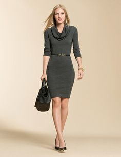 Love this sweater dress and it could be comfortable enough to wear at home. I The Limited