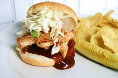I Thee Cook: Pulled BBQ Chicken Sliders with Southern Coleslaw