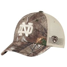 los angeles aa83f 550c1 Notre Dame Fighting Irish TOW Camo Mesh Prey Adjustable Snapback Hat Cap