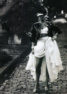 Its All In The Mix, Vogue US, March 1992Photographer: Patrick DemarchelierModel: Carre Otis