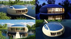 Forget the lakefront house, move ON the lake itself! The WaterNest 100 puts dwellers as close to the water as possible including river courses,