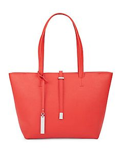 VINCE CAMUTO LEILA SMALL LEATHER TOTE. #vincecamuto #bags #shoulder bags #hand bags #leather #tote #