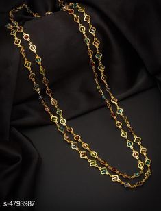 Necklaces & Chains Women's Brass Gold Plated Necklaces & Chains Base Metal: Brass Plating: Gold Plated Stone Type: Artificial Beads Sizing: Non-Adjustable Type: Chain Multipack: 1 Sizes: Country of Origin: India Sizes Available: Free Size   Catalog Rating: ★4.1 (1687)  Catalog Name: Women's Brass Gold Plated Necklaces & Chains CatalogID_698544 C77-SC1092 Code: 971-4793987-843
