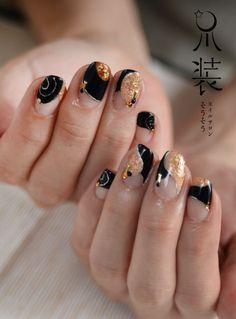 展覧会の絵の画像 | nail salon 爪装 ~sou-sou~ (入間・狭山・日高・飯… Lily Nails, Nails & Co, Japanese Nail Design, Japanese Nail Art, Fancy Nails Designs, Nail Art Designs, Food Nail Art, Cherry Blossom Nails, Korean Nail Art