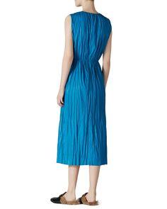 B31BR Gucci Sleeveless Leather Dress